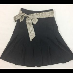 Anthropologie Odille Gray Pleated Skirt